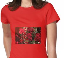Scarlet Sensation - Winter Flowers and Berries Womens Fitted T-Shirt