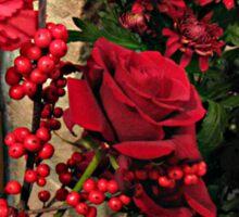 Scarlet Sensation - Winter Flowers and Berries Sticker