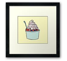 Frozen Yogurt Framed Print