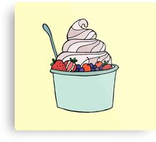 Frozen Yogurt Metal Print