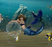 Bubble playground .. mermaid and friends by LoneAngel
