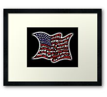 My Home USA Framed Print
