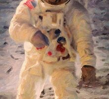 Apollo 11 A7L space suit worn by Buzz Aldrin on lunar surface  by Adam Asar