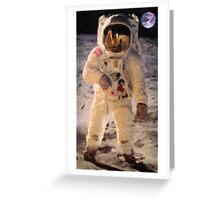 Apollo 11 A7L space suit worn by Buzz Aldrin on lunar surface  Greeting Card