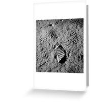 Apollo 11 Buzz Aldrins Moon Footprint by NASA Greeting Card