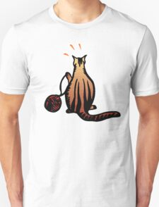 Cat With Ball Of Yarn T-Shirt