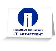 The I.T. Crowd Reynholm Industries Greeting Card