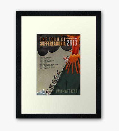 Tour of Sufferlandria 2013 Framed Print