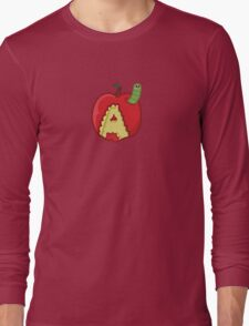 A is for apple Long Sleeve T-Shirt