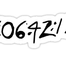 Donnie Darko Numbers Sticker