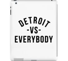 Detroit VS Everybody Black iPad Case/Skin