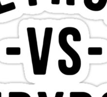 Detroit VS Everybody Black Sticker