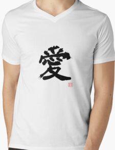 Kanji - Love Mens V-Neck T-Shirt