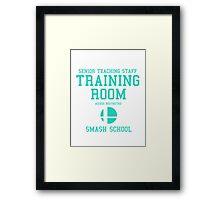 Smash School Training Room (Cyan) Framed Print