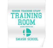 Smash School Training Room (Cyan) Poster