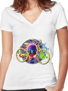Albert's Wild Ride Women's Fitted V-Neck T-Shirt