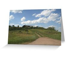 old house on the hill Greeting Card
