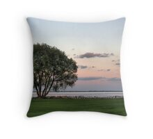 Sunset on the Lakeshore Throw Pillow