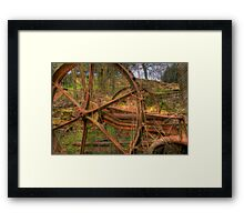 Giving in to nature Framed Print