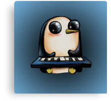 Gunter with Keyboard :: Adventure Time Canvas Print