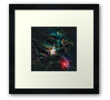 Infrared light veiw of Rho Ophiuchimolecular cloud complex (By NASA) Framed Print