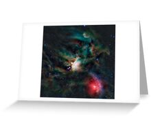 Infrared light veiw of Rho Ophiuchimolecular cloud complex (By NASA) Greeting Card