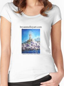 italian lighthouse Women's Fitted Scoop T-Shirt