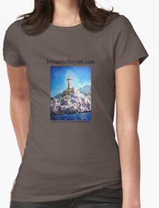 italian lighthouse Womens Fitted T-Shirt