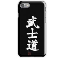Kanji - Bushido in white iPhone Case/Skin