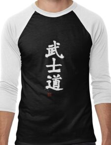 Kanji - Bushido in white Men's Baseball ¾ T-Shirt