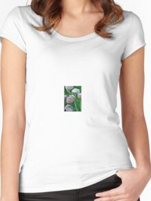 Pink/White Tulip Women's Fitted Scoop T-Shirt