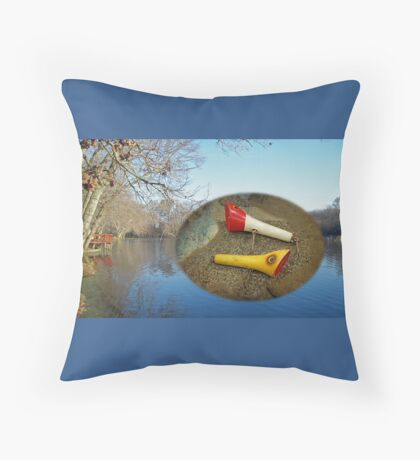 Berry Lebeck Ozark Lure 100 Series 3 Talkie Topper - Fishing Throw Pillow