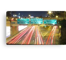 Philly by Night Canvas Print