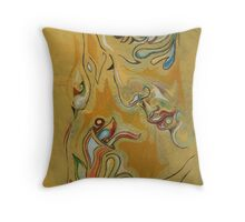 I Try to Hear, I Only See Throw Pillow