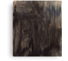 Black and White Smear Canvas Print