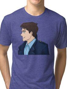 Captain Jack Harkness Profile Tri-blend T-Shirt