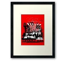 Urban color Red Framed Print