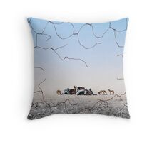 The Dingo Fence Throw Pillow