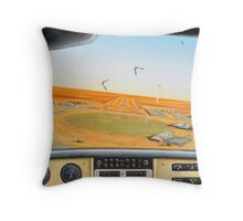 Crowded Airspace, Birdsville Throw Pillow