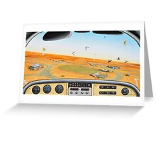 Crowded Airspace, Birdsville Greeting Card