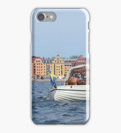 Boating in Stockholm iPhone Case/Skin