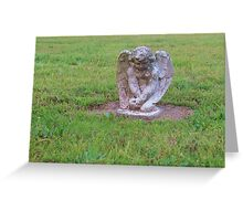 Pouting angel Greeting Card