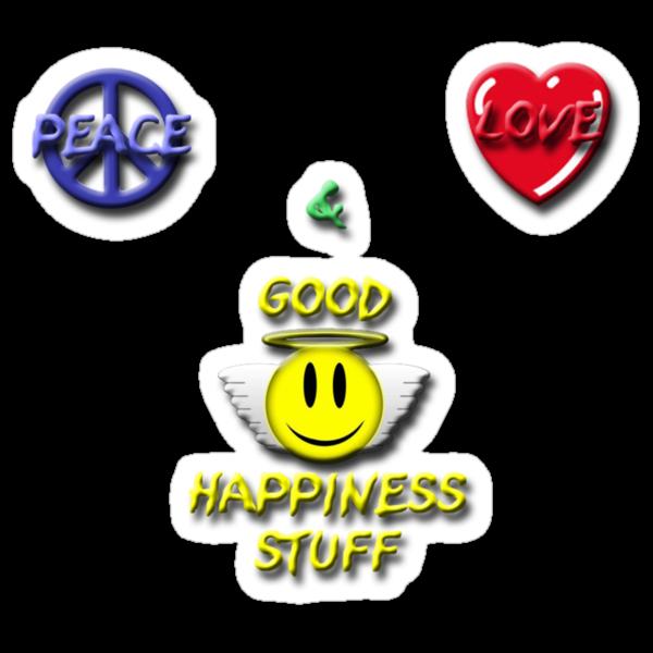 Peace Love Good Happiness Stuff by Scott Ruhs