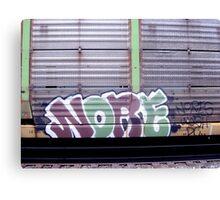 Train Graffiti Canvas Print