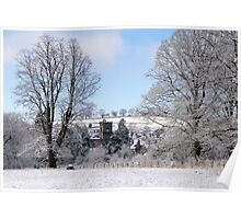 Much Wenlock, Shropshire in the snow Poster