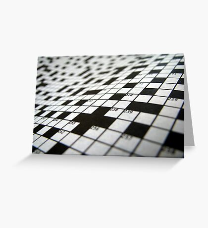 Crossword Greeting Card