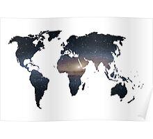 Galatic Map Poster