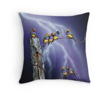 Rainbows after the Storm Throw Pillow