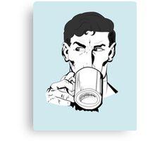 Superheroes Love Tea Canvas Print
