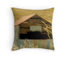 Country Grasses Throw Pillow